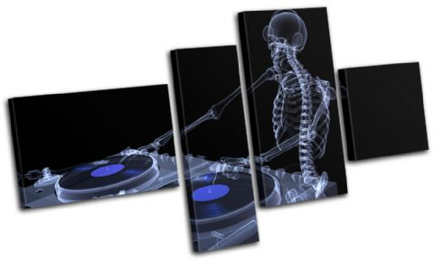 DJ Skeleton Abstract Blue DJ Club - 13-0016(00B)-MP09-LO
